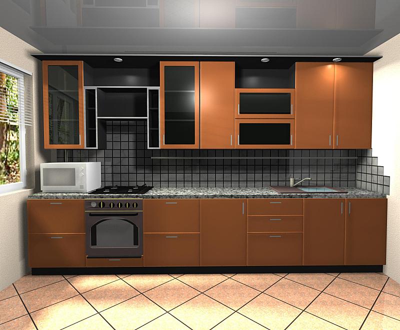 室内,厨房,橙色,三维图形,住宅房间,褐色,水平画幅,墙,无人,玻璃