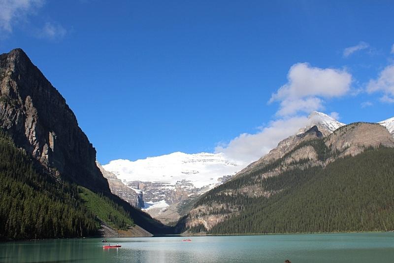 露易斯湖,独木舟,自然,水,水平画幅,雪,阿尔伯塔省,无人,班夫国家公园,户外