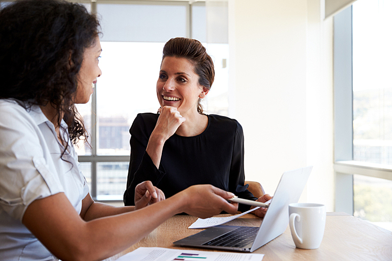 两个人,女商人,会议,办公室,笔记本电脑,西班牙和葡萄牙人,商务会议,仅女人,金砖四国,经理