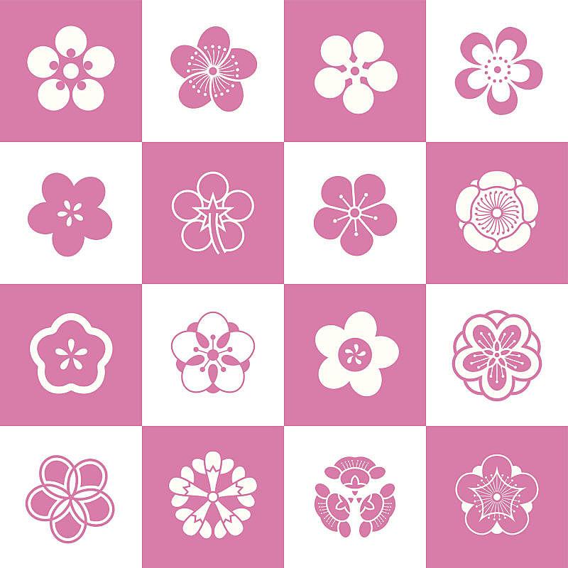 花瓣,式样,梅花,桃花,樱花,数字5,花朵,日本,桃树