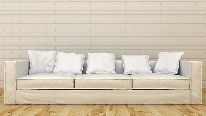 沙发,极简构图,三维图形,住宅房间,水平画幅,无人,装饰物,家具,舒服,现代
