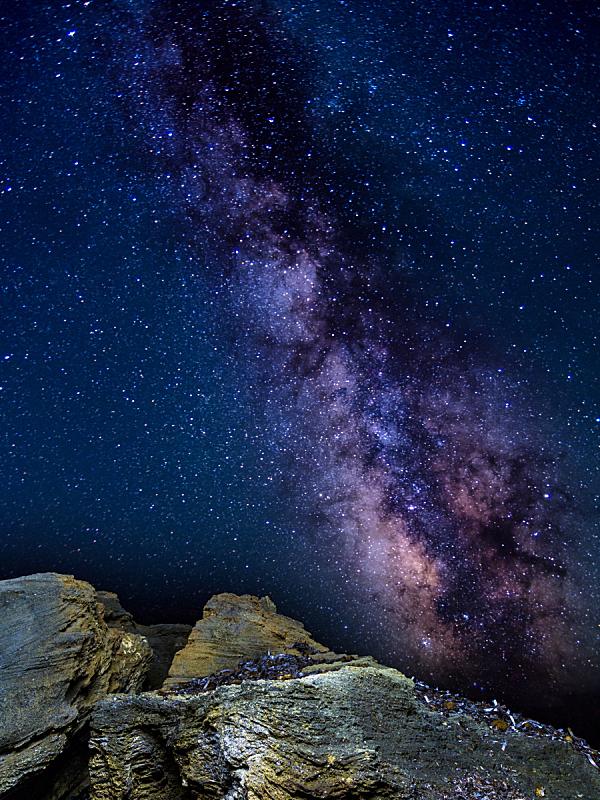 银河系,撒丁岛,垂直画幅,天空,美,星系,山,夜晚,无人,星云