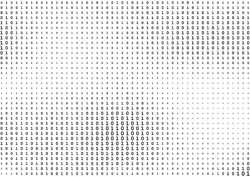 二进制码,数字0,数字1,数字,黑色,数字2,流线型,分离着色,白色背景,黑客