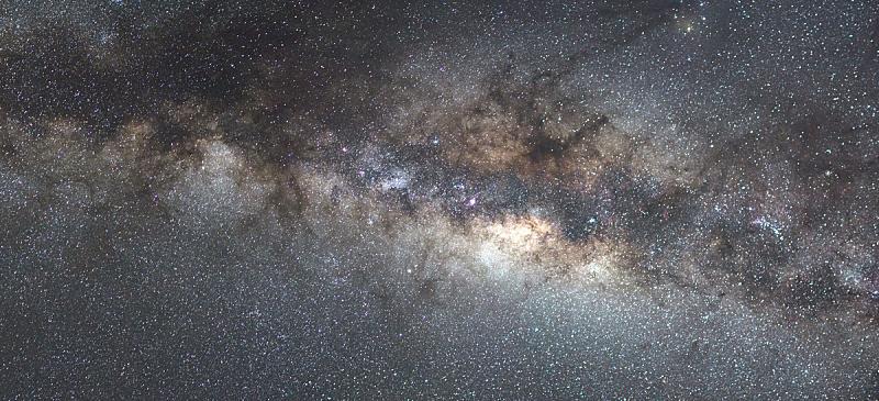 银河系,天空,太空,星系,望远镜,水平画幅,夜晚,无人,蓝色,星座
