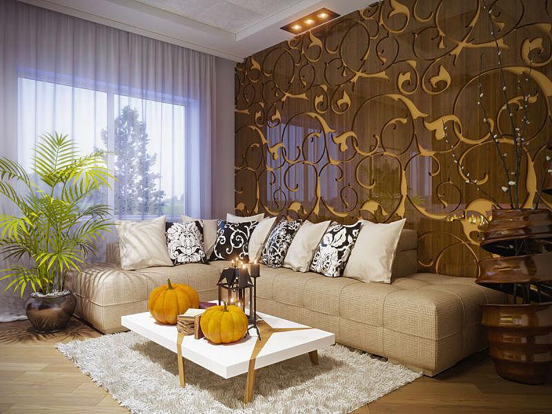 起居室,室内设计师,水平画幅,绘画插图,家具,现代,联排别墅,住宅房间,桌子
