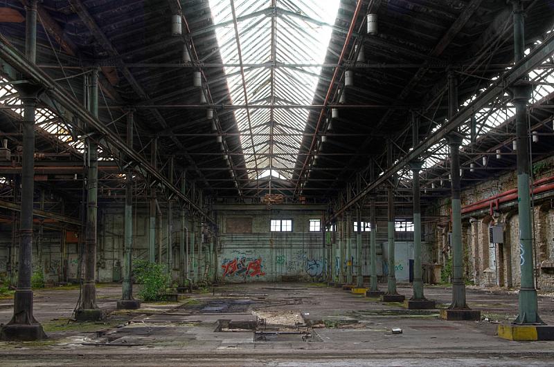 仓库,被抛弃的,水平画幅,墙,工作场所,无人,砖墙,古老的,巨大的,古典式
