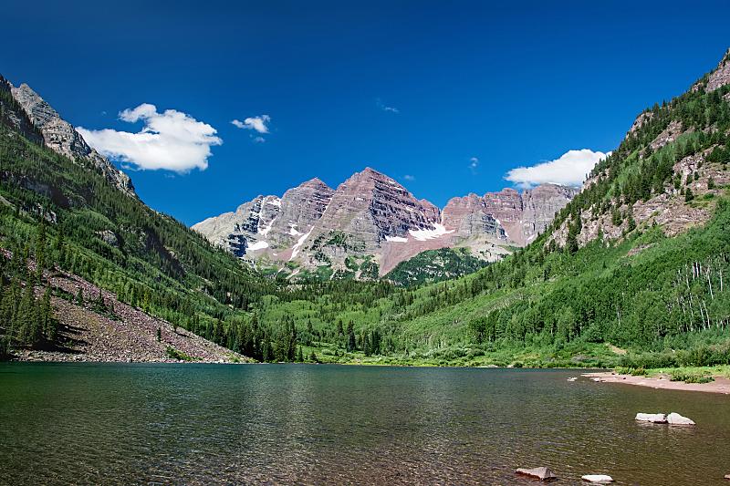 科罗拉多州,阿斯彭,默鲁恩湖,玛尔露恩贝尔峰,自然,风景,图像,洛矶山脉,宁静,美国