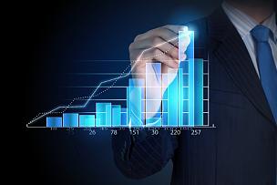 商务,复合媒材,领导能力,水平画幅,金融,金融和经济,铅笔,男商人,图表,表现积极