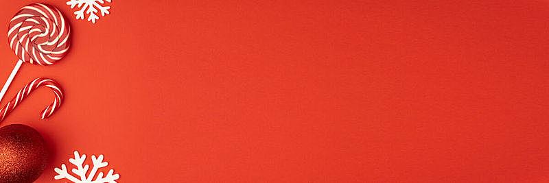 红色背景,糖果,红色,概念,冬天,新年前夕,平铺,包装纸,留白