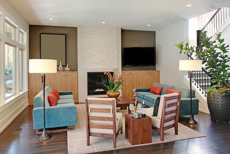 住宅内部,华贵,起居室,住宅房间,新的,水平画幅,无人,椅子,房屋,家具