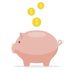 小猪扑满,经济,银行保管箱,存钱罐,债务,猪,美元符号,绘画插图,保险箱,卡通