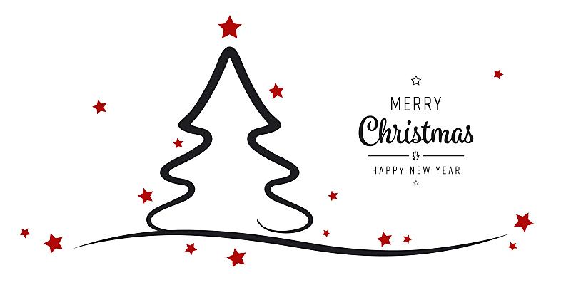 圣诞树,星形,背景,分离着色,贺卡,背景分离,新年前夕,简单,现代,节日
