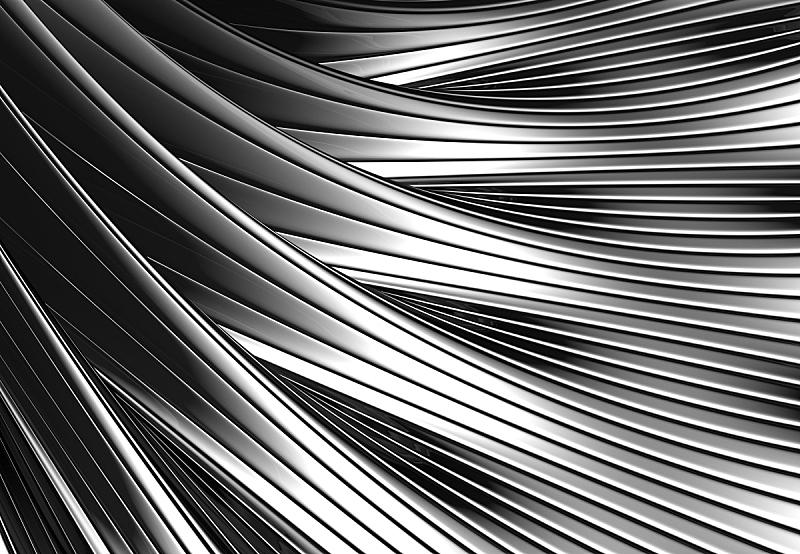 银色,抽象,金属,闪亮的,背景,绘画插图,三维图形,式样,水平画幅,无人