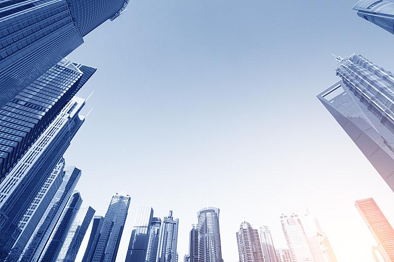 陆家嘴,组物体,上海环球金融中心,办公室,水平画幅,云,偏远的,户外,浦东,建筑业
