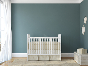 儿童房,室内,婴儿床,娱乐室,卧室,正面视角,水平画幅,形状,无人,古典式