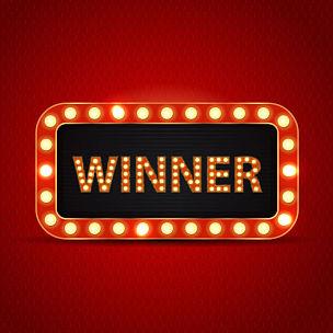 布告栏,矢量,颁奖典礼,霓虹灯,赌场,概念,红色背景,发光,复古