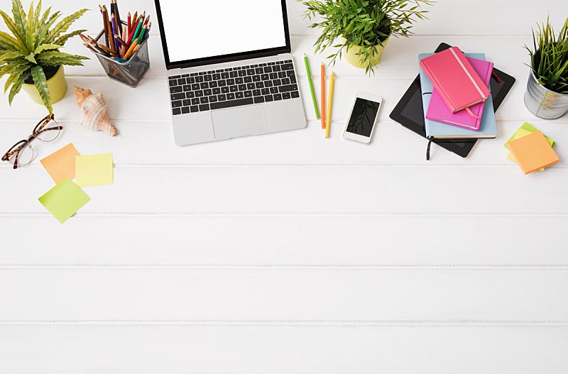 书桌,创造力,在上面,羊毛帽,人,新的,高视角,眼镜,都市风景,现代