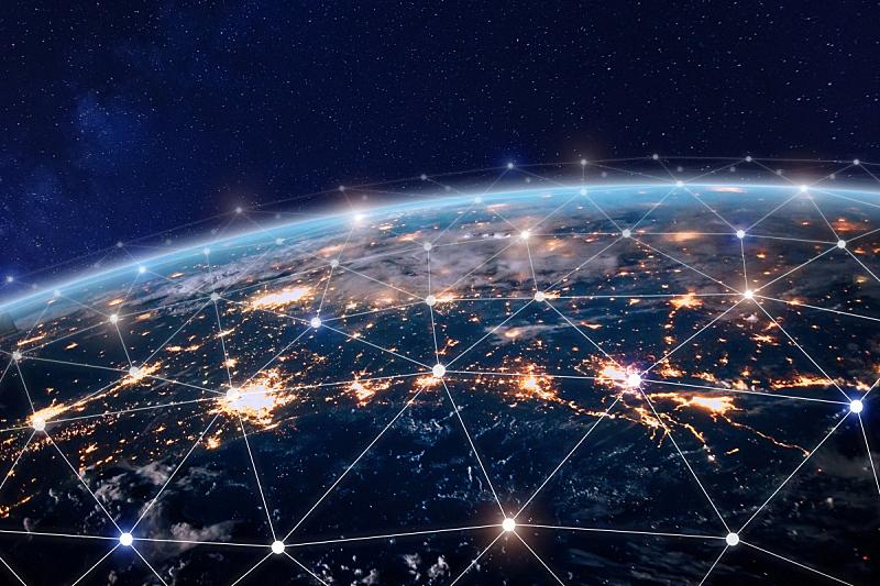 全球通讯,地球形,全球商务,互联网,计算机网络,瘤,天空,商务策略,未来,水平画幅