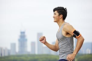 慢跑,成年的,青年人,公园,男人,日本人,男性,仅男人,户外活动,20到29岁