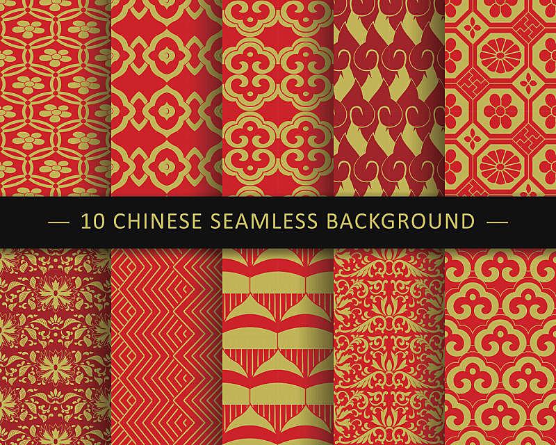 背景,式样,八边形,长方形,传统,过去,六边形,三角形,中国,花纹