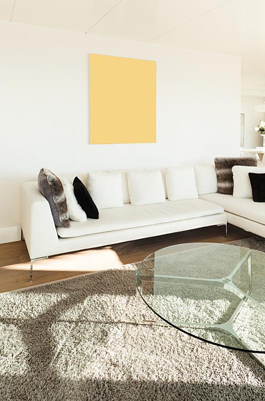 现代,房屋,室内,垂直画幅,新的,墙,无人,天花板,地毯,家具
