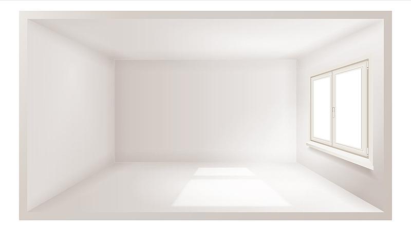 绘画插图,矢量,住宅房间,空的,三维图形,窗户,室内,墙,式样,写实