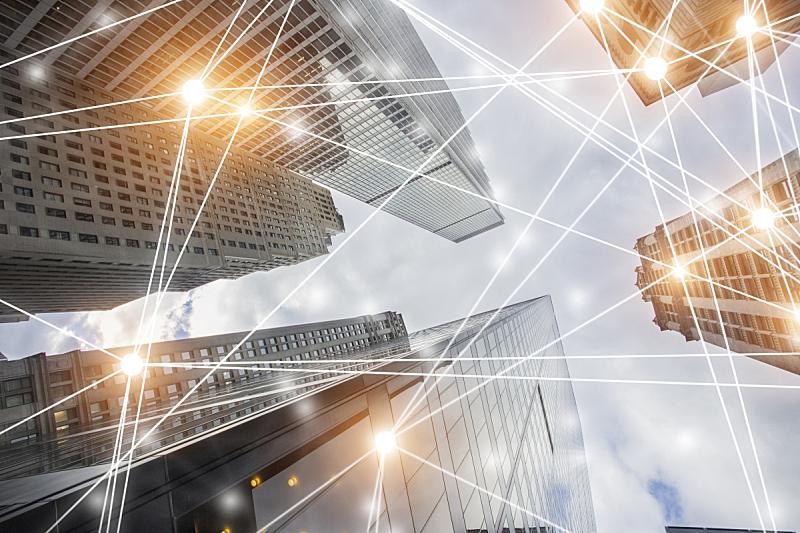 计算机网络,建筑,数字化显示,云计算,网络安全防护,无线技术,网络服务器,纽约,地球形,都市风景