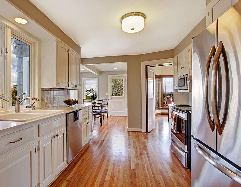 住宅房间,厨房,饭厅,窗户,水平画幅,建筑,无人,豪宅,天花板,家具
