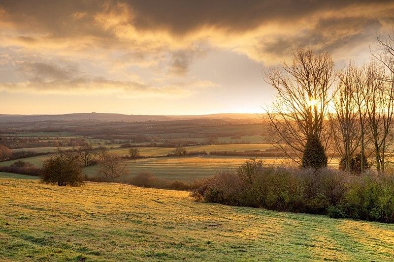 早晨,英格兰,冬天,金色,非都市风光,水平画幅,地形,山,无人,欧洲