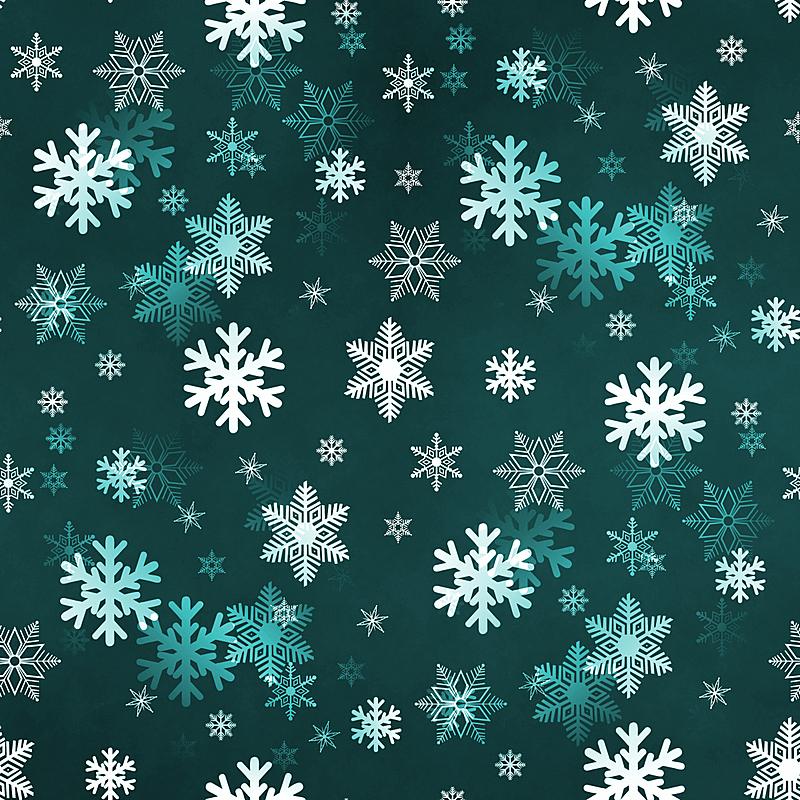 雪花,绿色,暗色,贺卡,艺术,雪,无人,绘画插图,庆祝