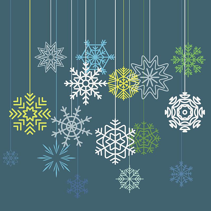 新年前夕,贺卡,圣诞装饰物,几何形状,一月,霜,雪,装饰物,背景