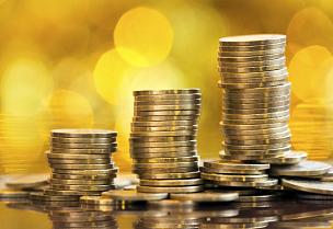 黄金,救球,钞票卷,比特币,储蓄,水平画幅,银行,无人,空的,商业金融和工业
