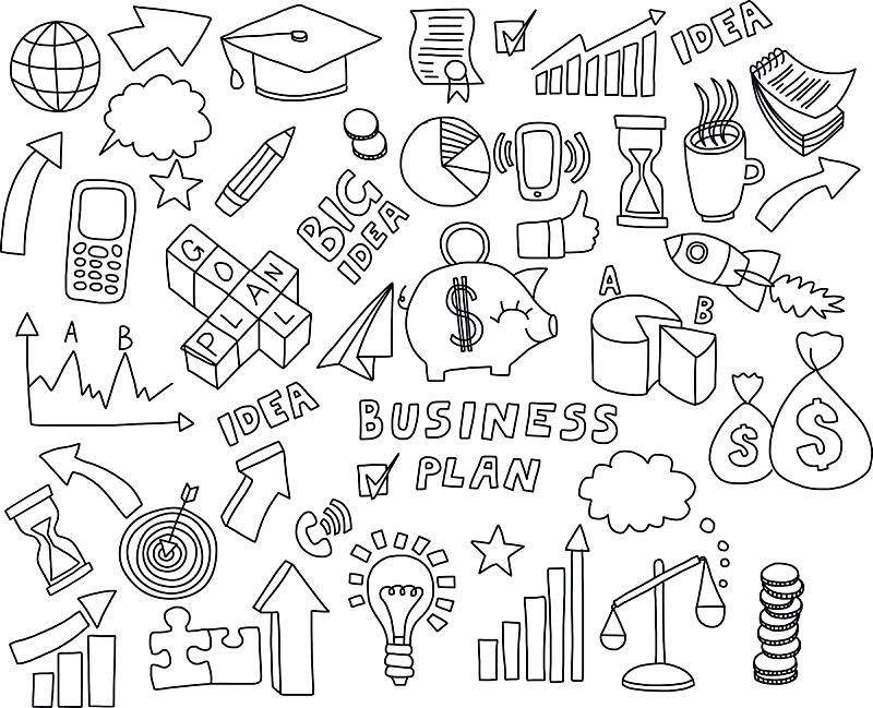 商务,乱画,计算机图标,矢量,图表,美术工艺,商业金融和工业,铅笔画,背景,银行