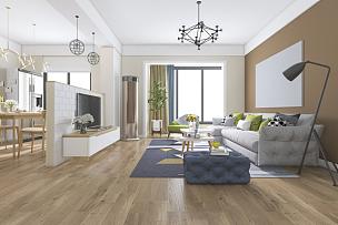 三维图形,饭厅,装饰物,华贵,起居室,极简构图,美,水平画幅,无人,椅子
