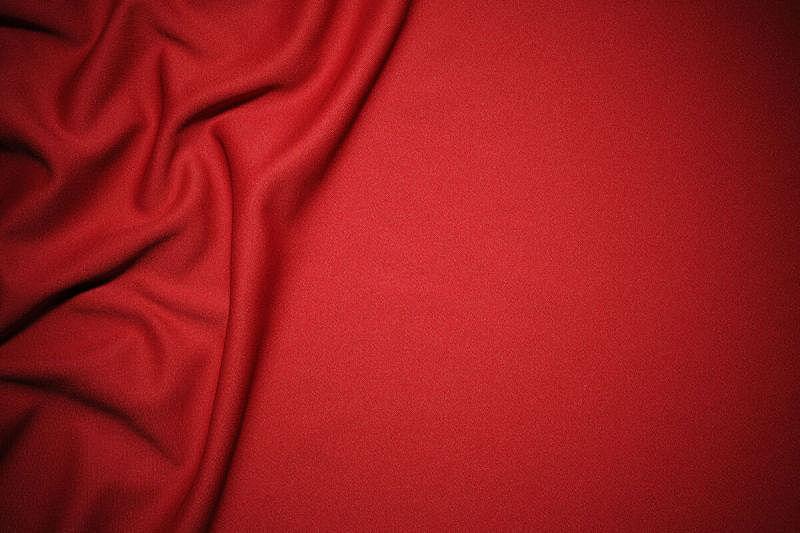 留白,纹理效果,纺织品,红色,波形,折叠的,水平画幅,高视角,无人,纤维