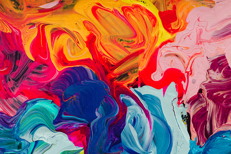 彩色图片,丙稀画,特写,多色的,大特写,与众不同,水,纹理效果,平视角