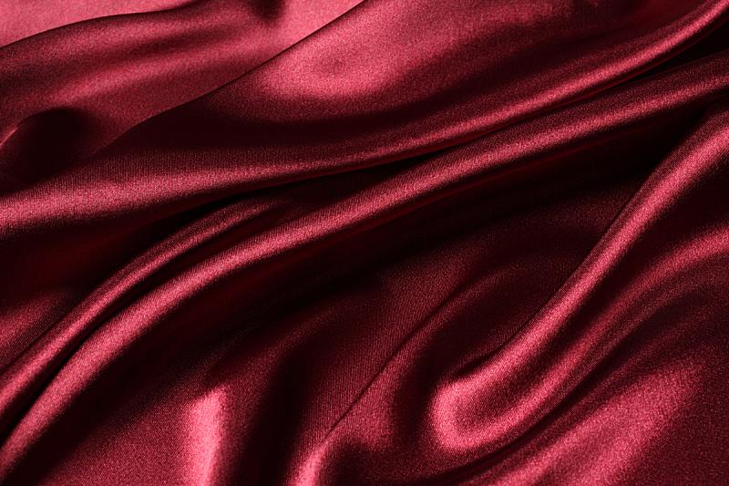 丝绸,纹理,红色,折叠的,水平画幅,纺织品,无人,彩色图片,缎子,成品