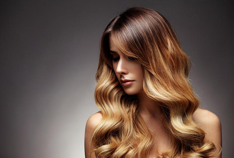 头发,金色头发,女人,长的,直的,自然美,闪亮的,彩妆,化妆用品