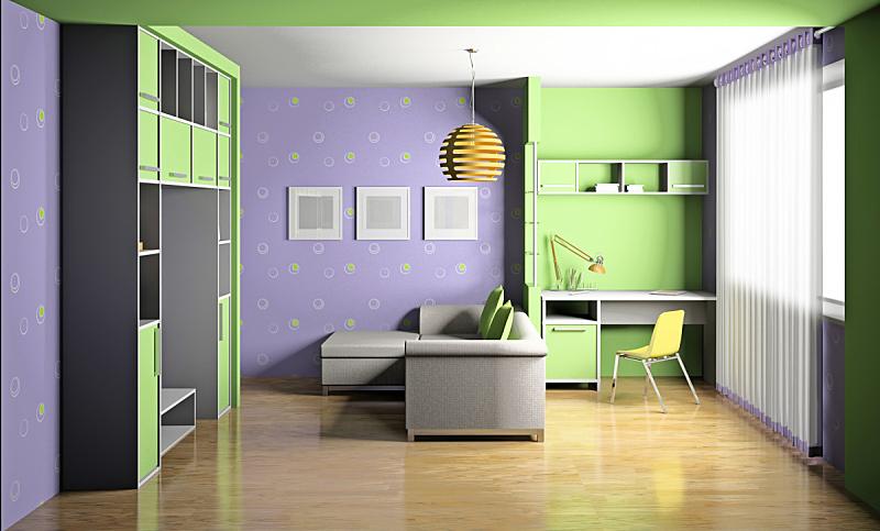 三维图形,童年,住宅房间,水平画幅,形状,椅子,家庭生活,家具,娱乐室,居住区