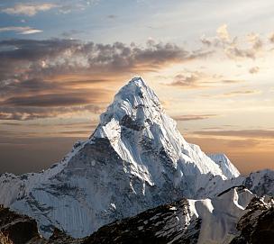 珠穆朗玛峰,阿马达布朗峰,大本营,通勤者,山顶,非凡的,喜马拉雅山脉,坤布,山,小路