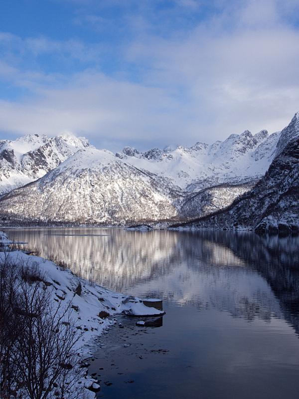 罗弗敦,海洋,山脉,挪威,自然,垂直画幅,水,天空,群岛,宁静