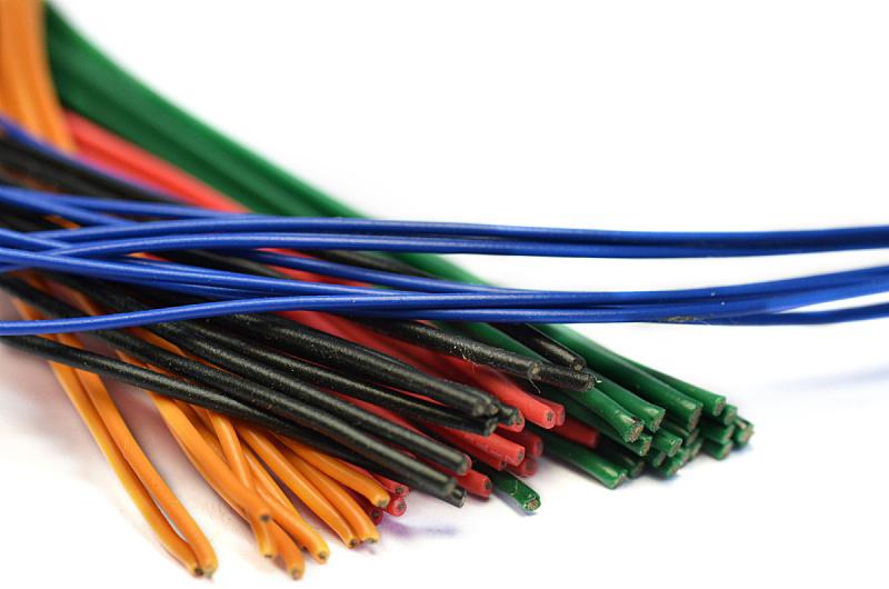 金属丝,电力电缆,电缆,电插头,水平画幅,无人,塑胶,线绳,电子行业,特写