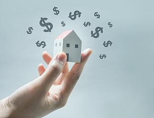 房屋,手,图标,模型,救球,稳定,住房问题,房地产经纪人,房地产,赚钱