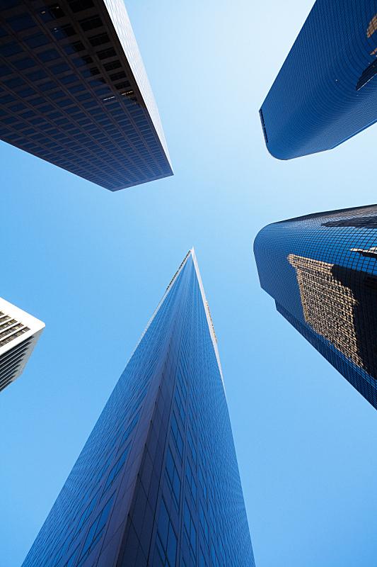 市区,洛杉矶,垂直画幅,彩色图片,无人,摩天大楼,办公楼外观,户外,城市,加利福尼亚