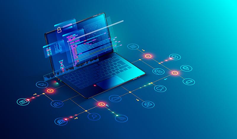 笔记本电脑,计算机软件,计算机语言,技术,编码,商务,显示器,概念,计算机图标,发展