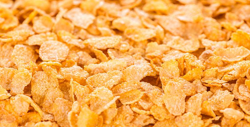 玉米片,背景,水平画幅,无人,膳食,早晨,干的,特写,清新
