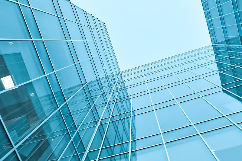 玻璃,都市风景,广角,围墙,透明,外立面,水平画幅,形状,无人,早晨