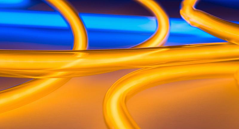圆形,装管,灯,霓虹灯标志,夜总会,波兰,灵感,橙色,黄昏,壁纸