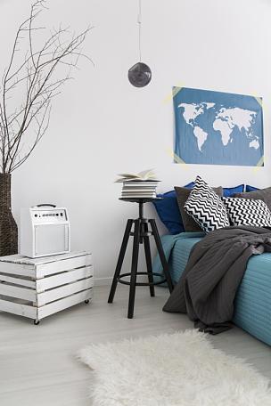卧室,调色板,柔和,彩色图片,垂直画幅,新的,无人,现代,想法,书