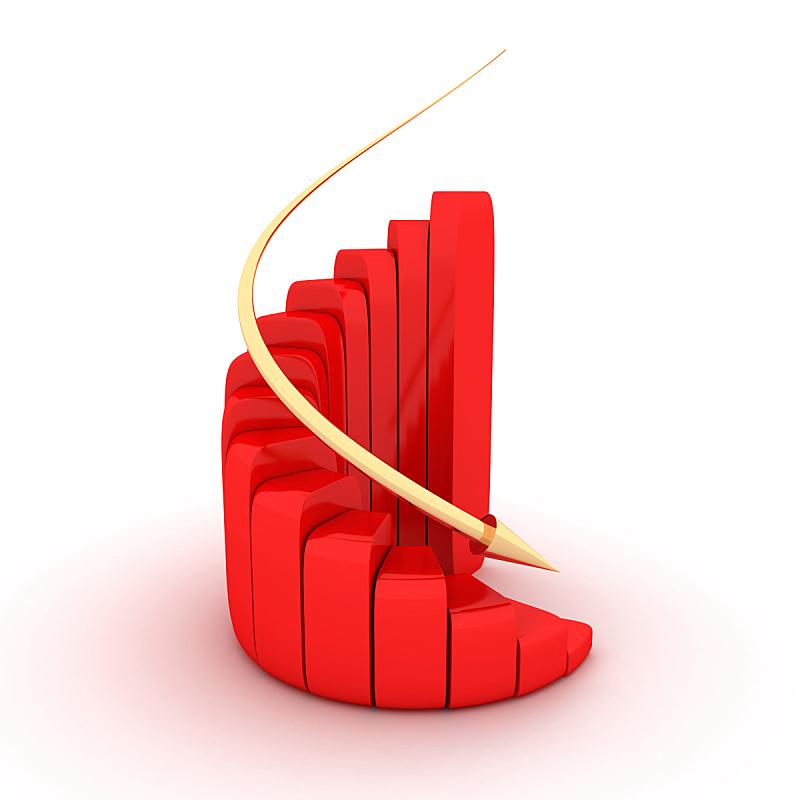 绘画插图,金融,危机,图表,概念,办公室,新的,银行,风险,箭头符号